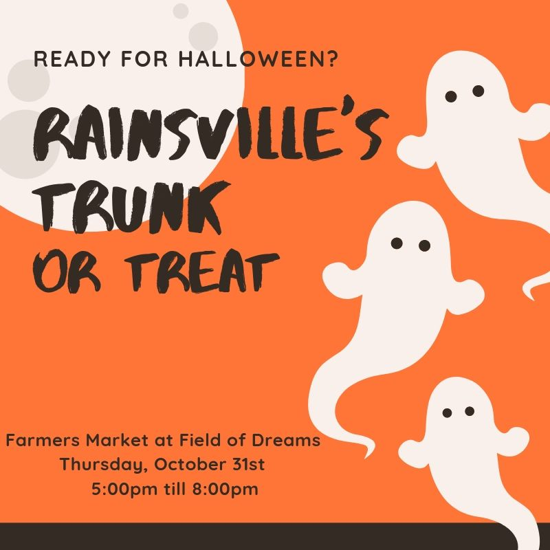 Trunk or Treat @ Farmers Market at Field of Dreams