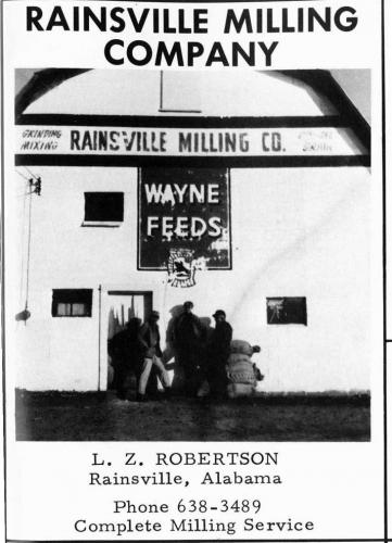 An old Rainsville Milling Company ad