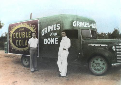 A Grimes & Bone delivery truck in the 1950s