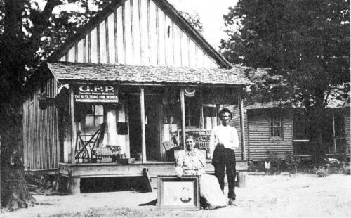 The Hall store and home in 1910