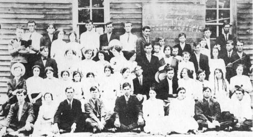 Another picture from an annual Hall's Singing School