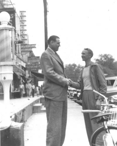 Marvin Barron with Big Jim Folsom in 1950s