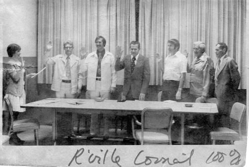 A city council organizational meeting - '70s