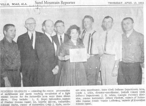A 1963 newspaper clipping