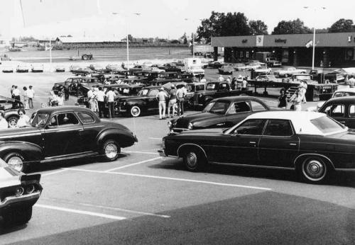 A 1978 car show at the Sand Mountain Plaza
