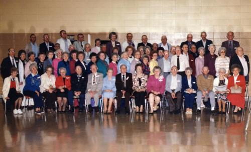 A class reunion for the old Pope School