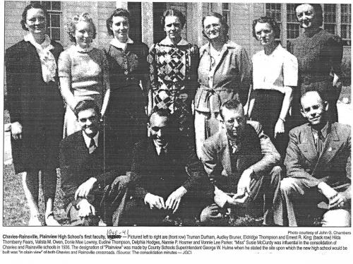1940 Plainview School faculty