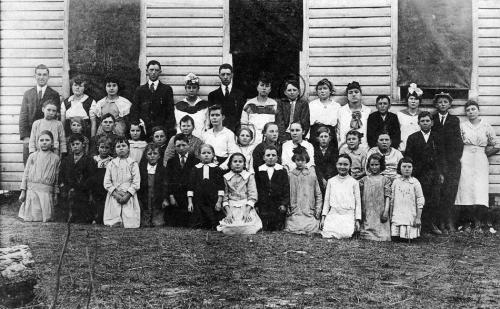 Picture day at Pope School - 1910s