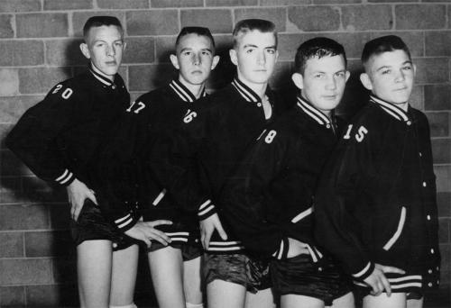 PHS basketball team in '59