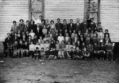 Picture Day at Chavies School - 1925