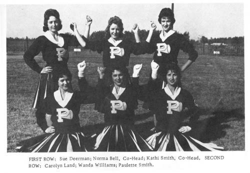 PHS Cheerleader squad - 1960s