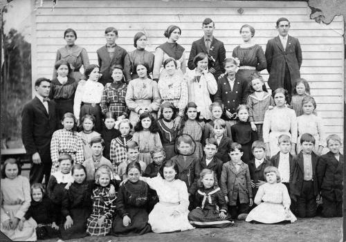 Picture day at Pope School - 1912