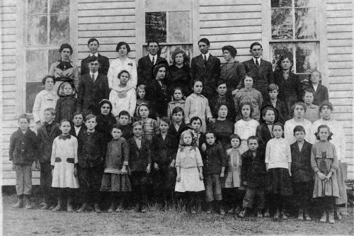 Picture day at Pope School - 1915
