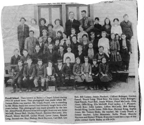 1915 Powell School